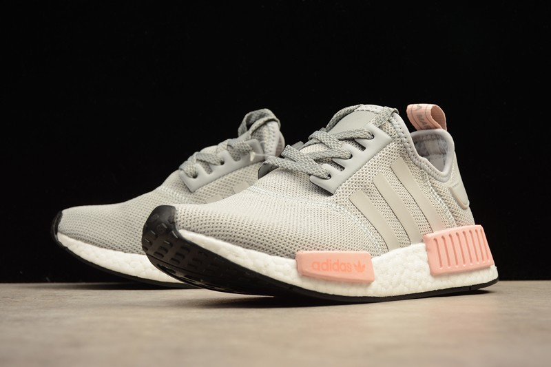 2017 Cheap Adidas NMD R1 Grey Pink BY3058 Shoes Women s Size ... 1ed07df749