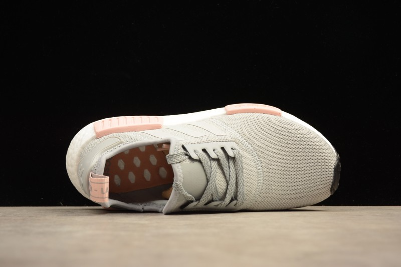2017 Cheap Adidas NMD R1 Grey Pink BY3058 Shoes Women s Size ... 3b71ea447