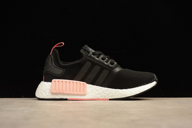 Adidas NMD R1 Black Peach Pink S75234 Women s Running Sneakers ... 4694992301