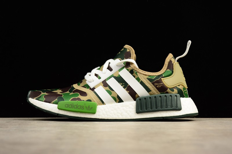 Adidas Nmd R1 Green Camo Ba7326 Lifestyle Sneakers Cheap Price