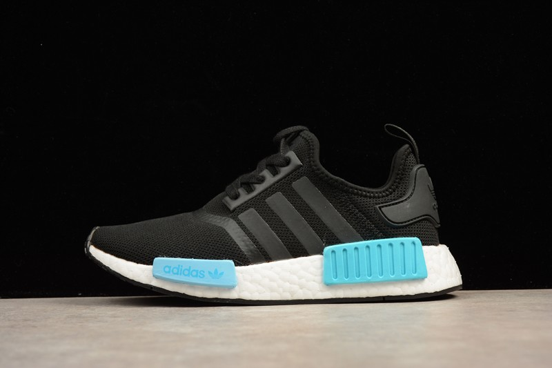 low priced 21cbd 9c56b Adidas NMD R1 Icey Blue Black White BY9951 Women's Casual Shoes