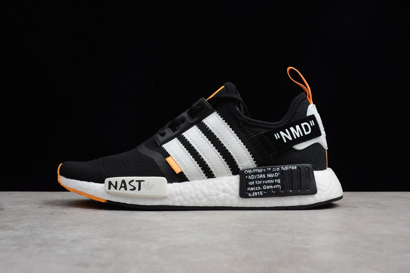 Adidas Nmd R1 Pk Primeknit Ba8860 Black White Orange In Stock