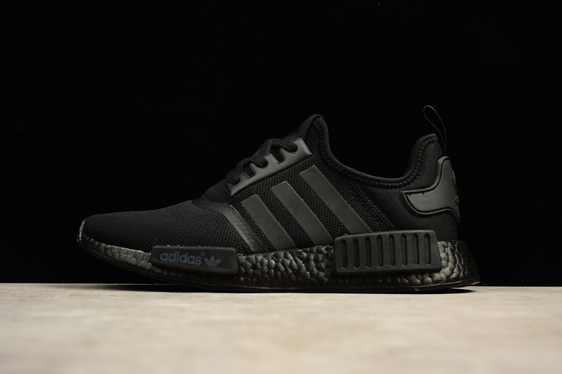 new products 6d4e9 e1f9f Adidas NMD R1 Triple Black S31508 Lifestyle Sneakers In Stock