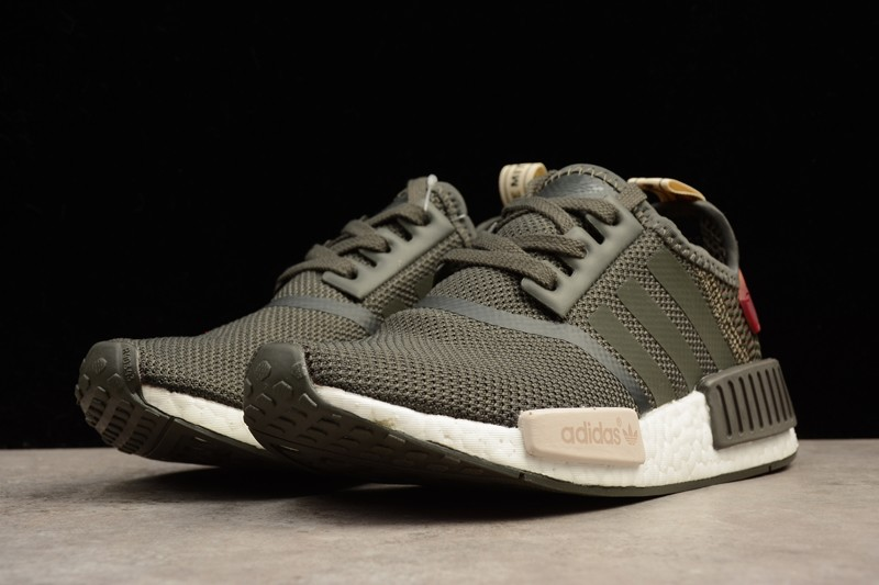 Adidas NMD R1 Utility Grey Olive Green Maroon BA7752 For Sale ... 310183cfd