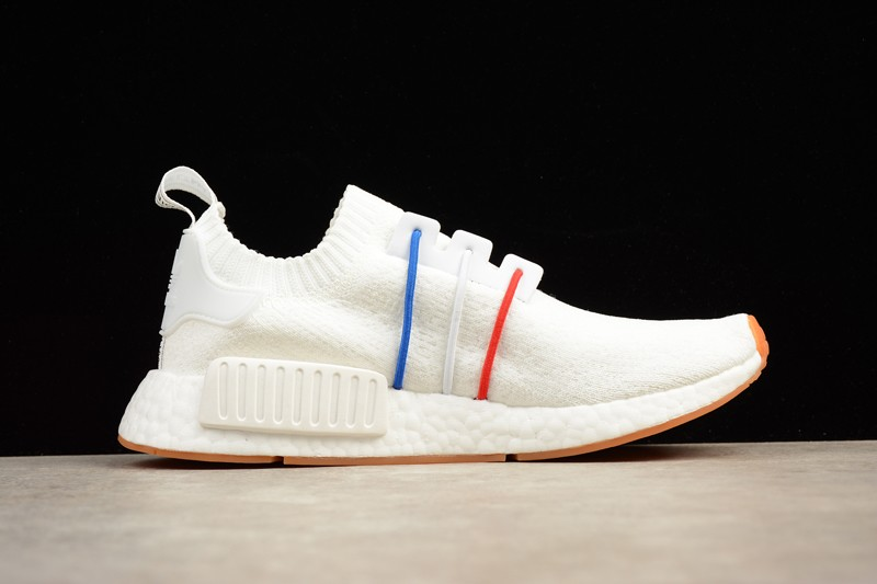 3262b8325648f2 Adidas NMD R1 White Blue And Red Running Shoes BZ2098 Online For ...