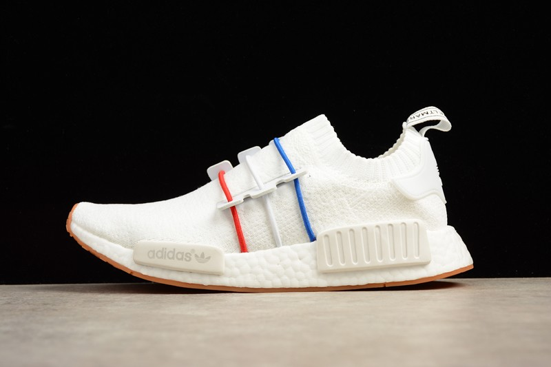 huella dactilar Sofisticado Sofocante  Adidas NMD R1 White/Blue And Red Running Shoes BZ2098 Online For Sale |  yeezy calabasas shoes on feet grey and gold black