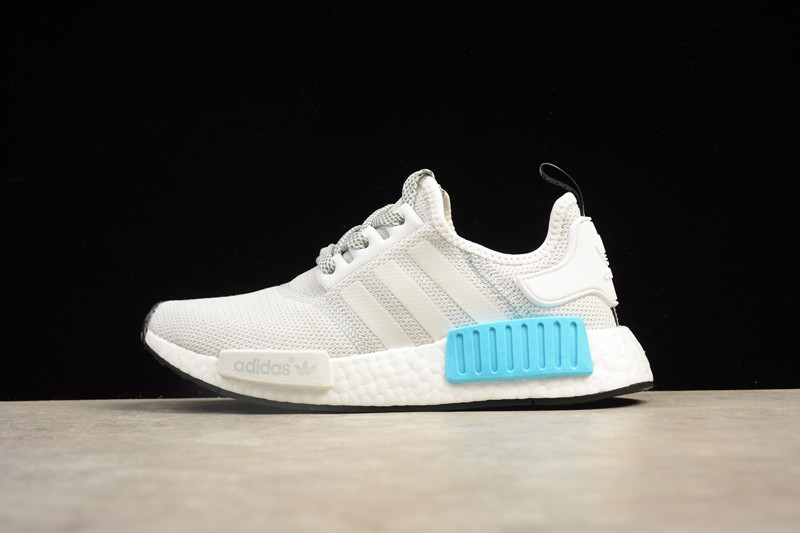 hot sale online 4f48f 55d83 Adidas NMD R1 White/Bright Cyan S31511 Fashion Casual Shoes ...