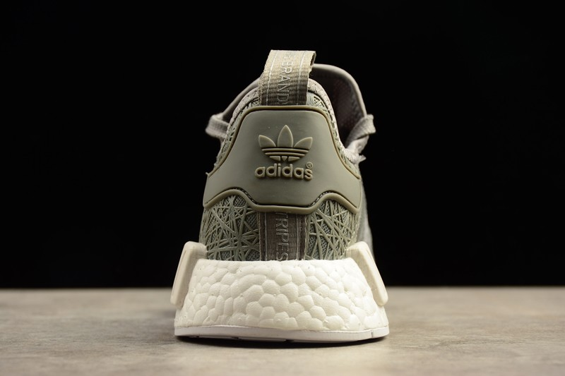 Brand New Men's Adidas NMD R1 Boost S76907 Grey White For Sale