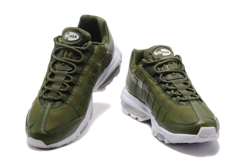 Buy Nike Air Max 95 Olive green White For Sale Cheap  71cc6d364