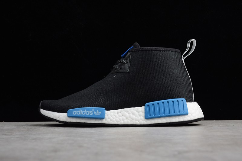 c31f4faa5178d Men s Adidas NMD Trail Black Ice Blue White For Sale