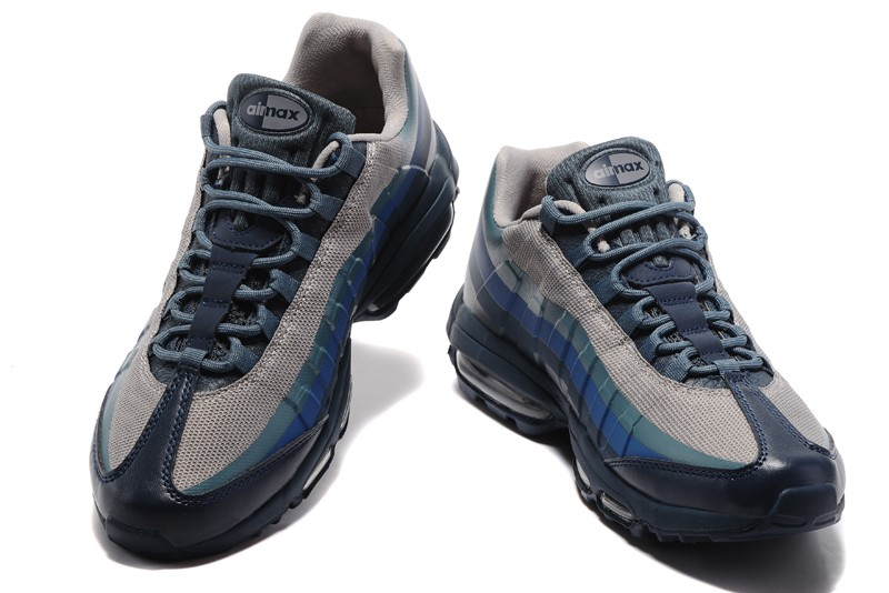 Mens Nike Air Max 95 Blue/Grey sports shoes For Sale