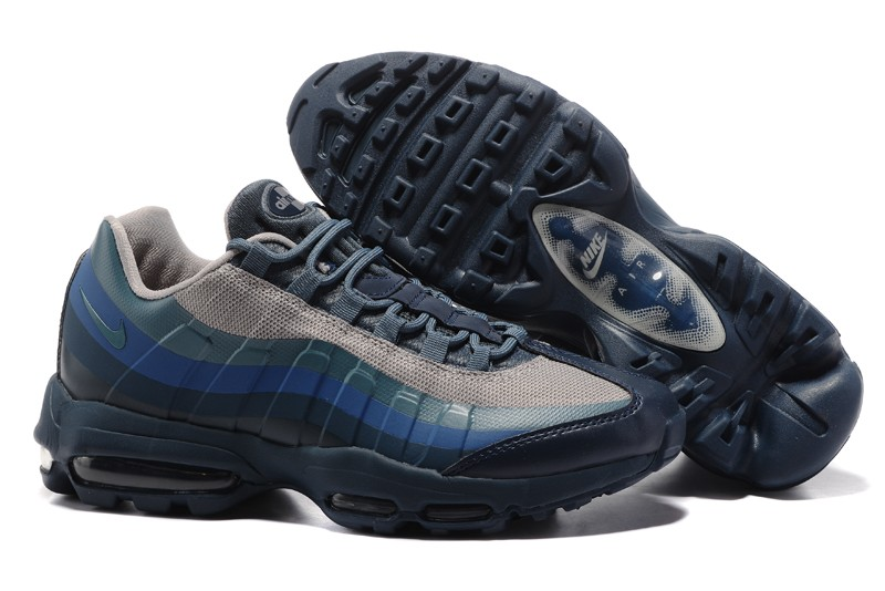Mens Nike Air Max 95 Blue Grey Sports Shoes For Sale Sneakers