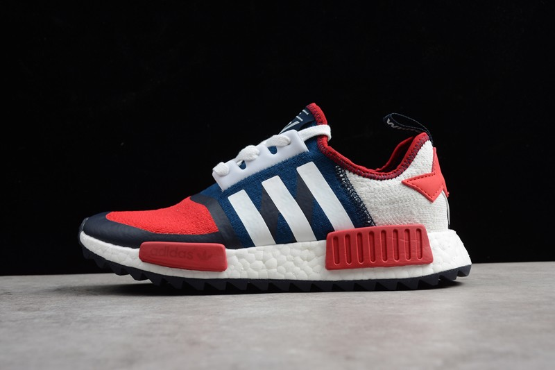 pretty nice 92f27 8dc45 Mens Mountaineering X Adidas NMD Trail PK BA7519 White/Solar Red/Navy Blue  Footwear