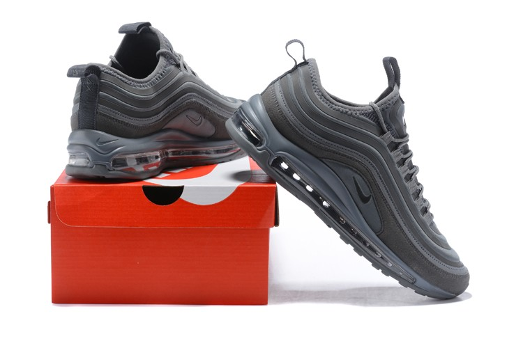 Mens Nike Air Max 97 Dark Grey Suede In Stock 2018 New  99d71ff66188