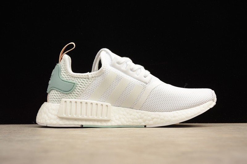 New Adidas Nmd R1 By3033 White Tactile Green Casual Sneakers