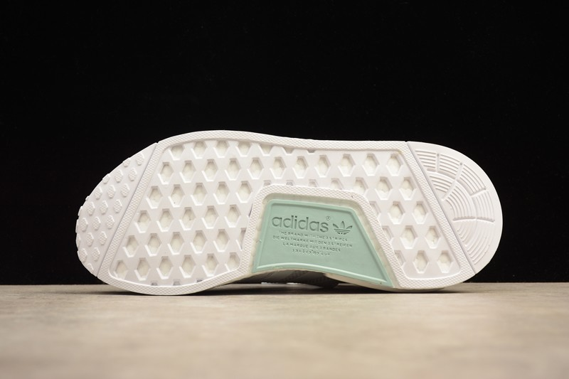 127af6dbc7155 New Adidas NMD R1 BY3033 White Tactile Green Casual Sneakers ...