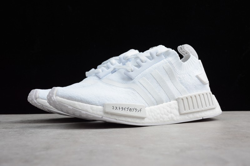 New Adidas NMD R1 Triple White Men's And Women's Casual Sneaker ...