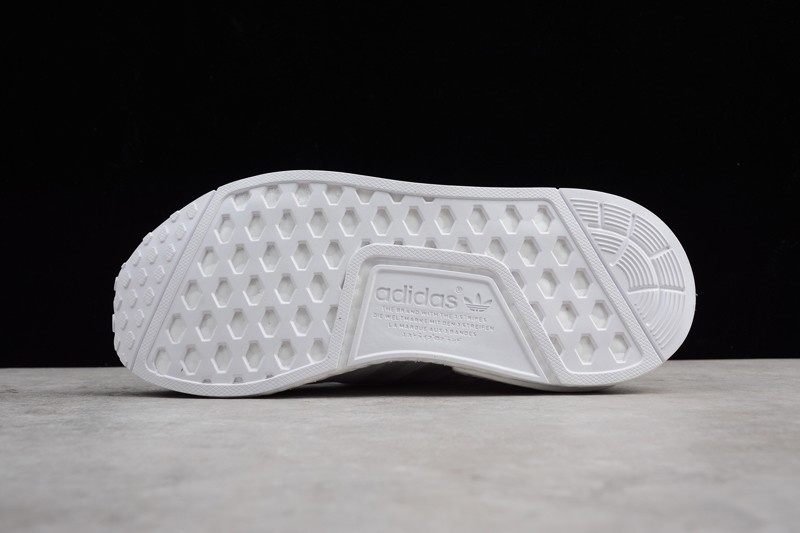 New Adidas Nmd R1 Triple White Men S And Women S Casual Sneaker