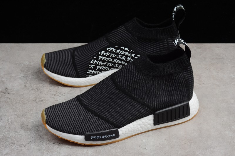 New Men S Adidas Nmd Cs1 Black White Gum Running Shoes Sneakers