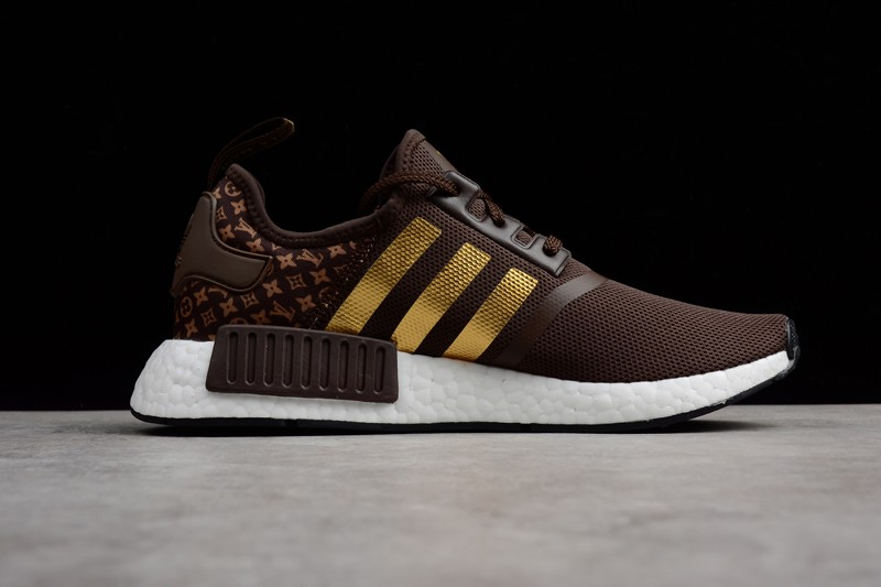 huge selection of 59475 bf11a New Men's Shoes Adidas NMD R1 Brown White Gold BA7789 Footwear
