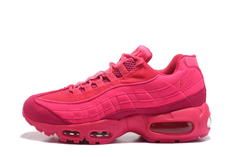 New Women s Nike Air Max 95 Casual Shoes Plum Red In 2018  85de555555