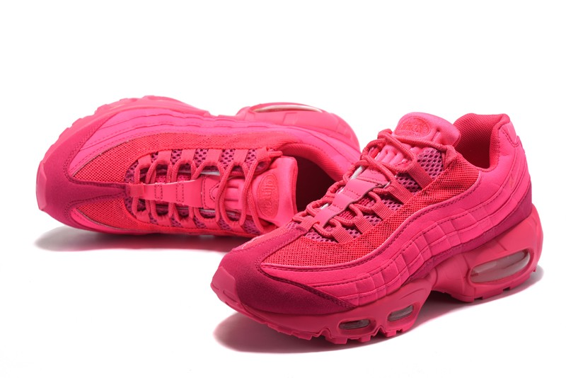 separation shoes 3efd8 07f8d New Women's Nike Air Max 95 Casual Shoes Plum Red In 2018