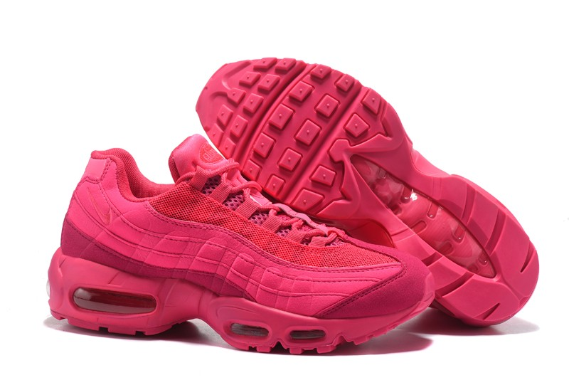 separation shoes 591c0 c9c2b New Women's Nike Air Max 95 Casual Shoes Plum Red In 2018