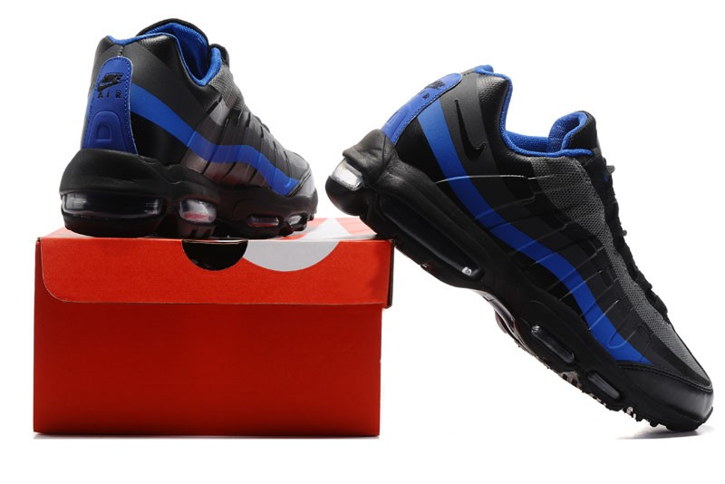 Nike Air Max 95 Ultra Essential Black Blue Mens Size For Sale ... df2938ea48