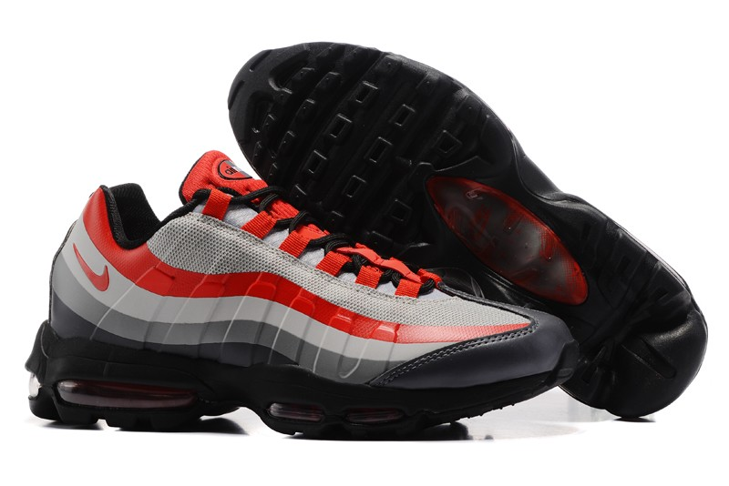 Nike Air Max 95 Ultra Essential Orange Gray Mens Size For Sale