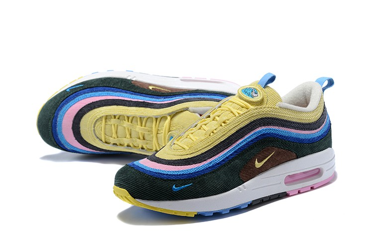 32c26912be8ab7 ... clearance nike air max 97 lifestyle shoes ultramarineyellowpink . 5dffc  ab25c