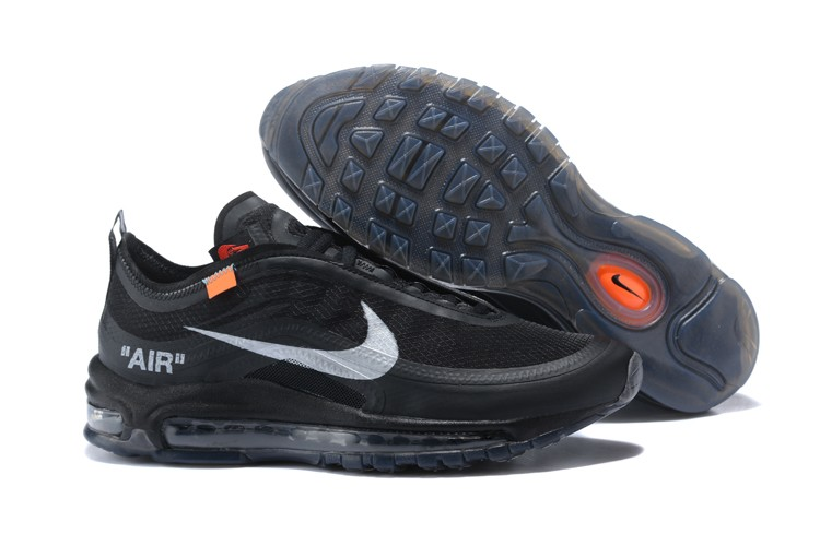 ba0ba374c377 OFF White x Nike Air Max 97 Black White Mens Size Running Shoes For ...