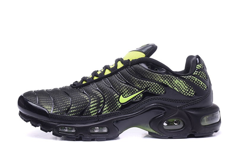 brand new c2644 857b7 2018 New Nike Air Max Plus TN Ultra Black/Fluorescent Green Running Shoes