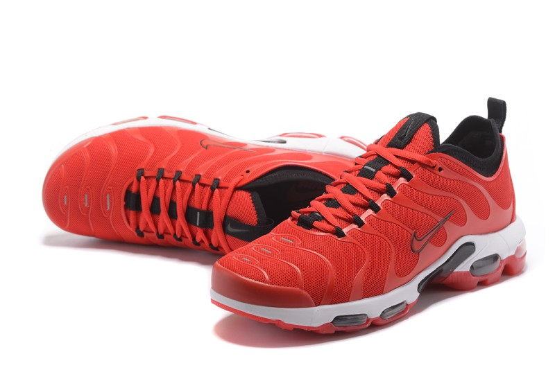 timeless design d6f06 589b7 2018 New Nike Air Max Plus TN Ultra University Red/Black/White 898015-600  Running Shoes