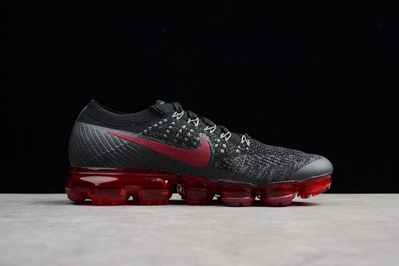 best service 0733a 24a06 2018 Nike Air VaporMax Flyknit Black/Red 849558-013 Men's Running Shoes