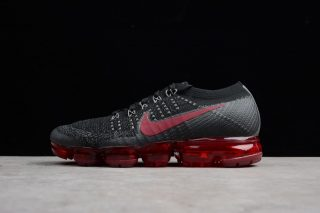 9190390b0958e 2018 Nike Air VaporMax Flyknit Black Red 849558-013 Men s Running Shoes