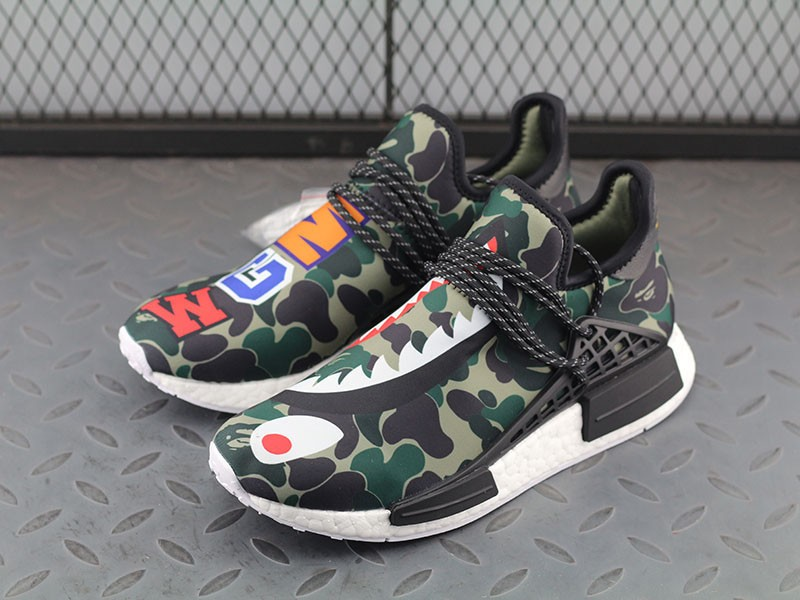 c4dd0ba2126 BAPE x Adidas Hu NMD Boost Mens Camouflage BB0623 Running Shoes ...