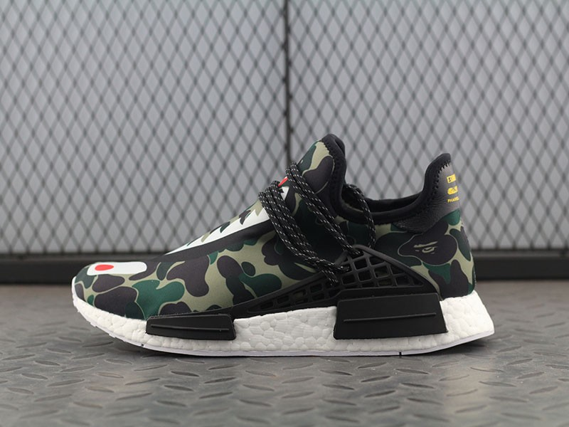 Bape X Adidas Hu Nmd Boost Mens Camouflage Bb0623 Running Shoes