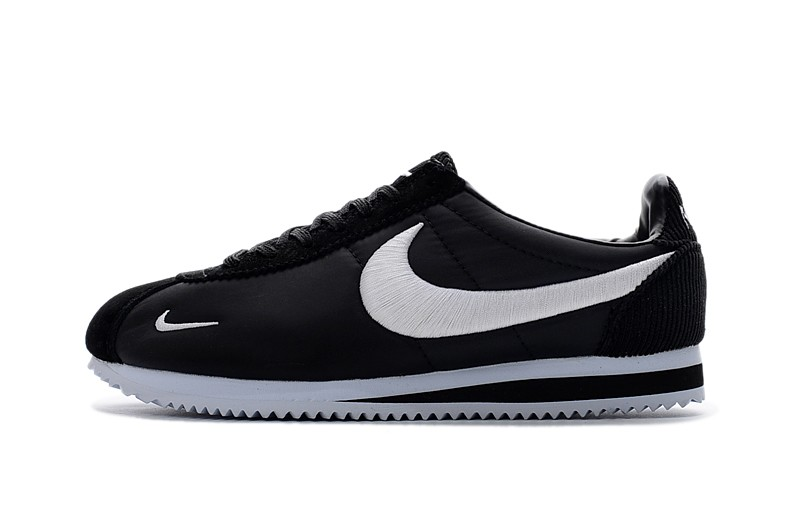 more photos 38a4a 80bff Best Sell Nike Classic Cortez Nylon Embroidery Black/White Leisure Running  Shoes