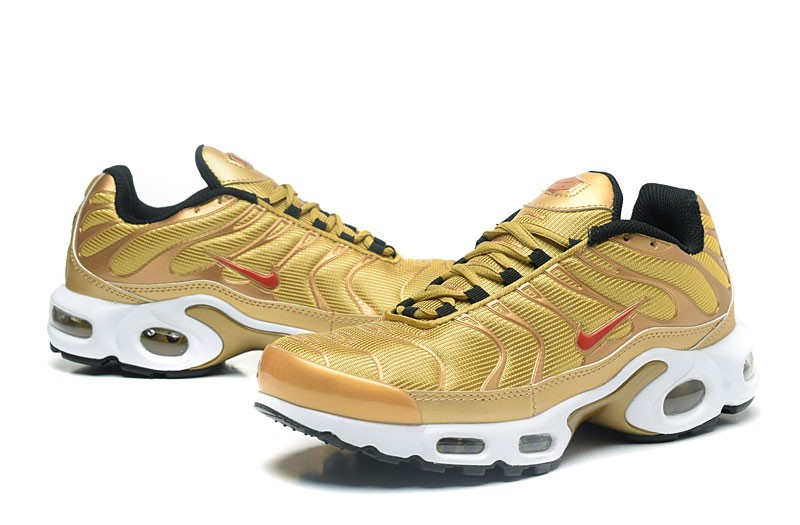 reputable site 7a3fe 9fae5 Cheap Nike Air Max TN Ultra Plus Gold/Red/White Men's Running Shoes Sneakers