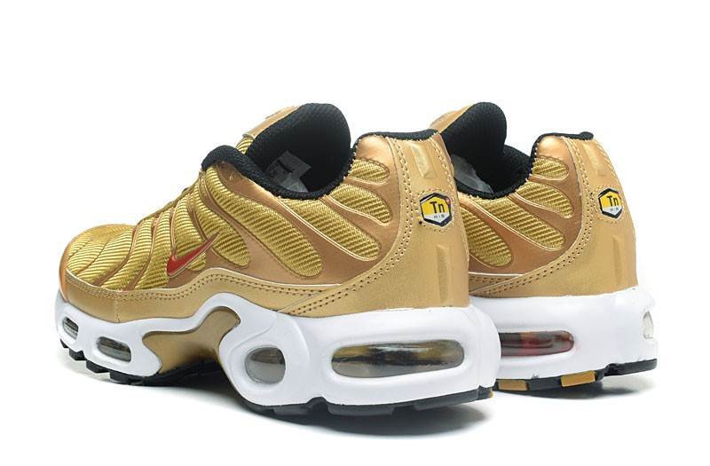reputable site 53c5c a0974 Cheap Nike Air Max TN Ultra Plus Gold/Red/White Men's Running Shoes Sneakers