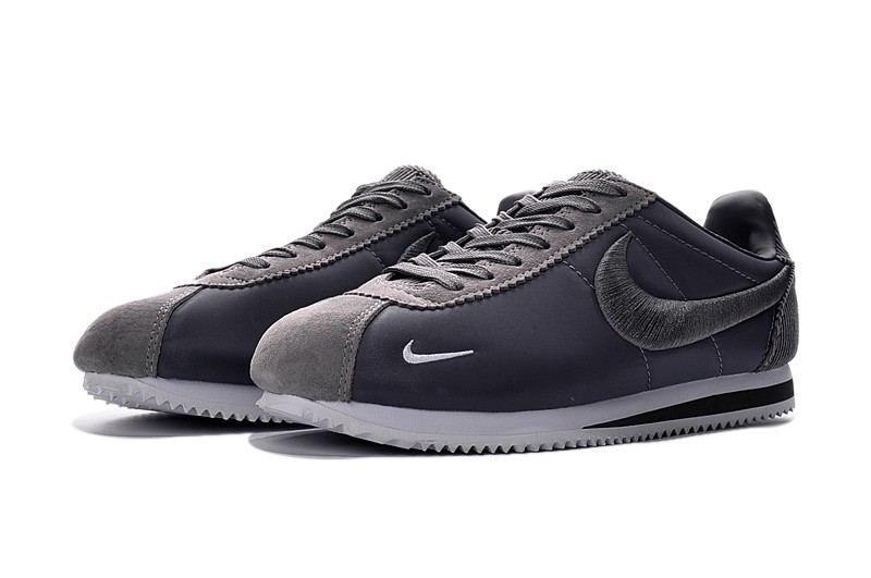 Cheap Price Nike Cortez Nylon Embroidery Silver Gray White Newest Leisure  Shoes 0810d2ded37e
