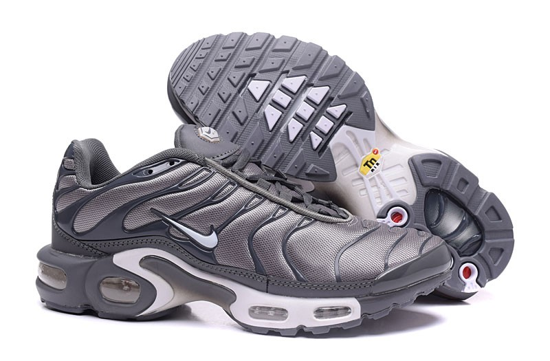 Classic Nike Air Max Plus TN Ultra Cool Grey White Lifestyle Shoes ... 8445a3584