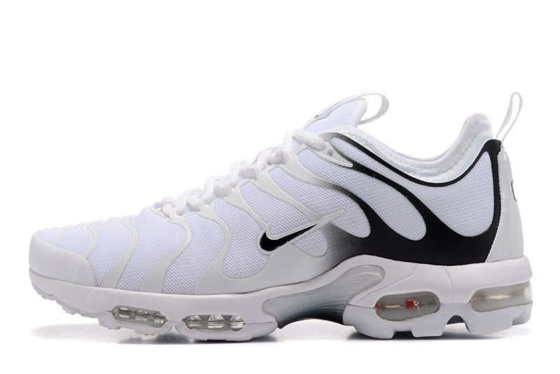 timeless design 84d94 65491 Classic Nike Air Max Plus TN Ultra White/Black 526301-008 Men's Sport  Running Shoes