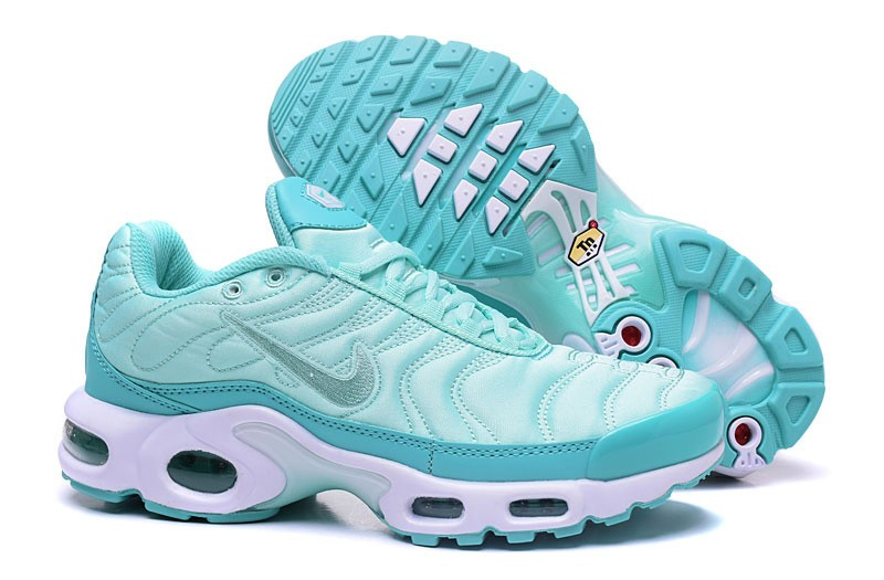 promo code 05fa4 32dec High Quality Nike Air Max Plus TN Sky Blue/White Sneakers Women's Running  Shoes