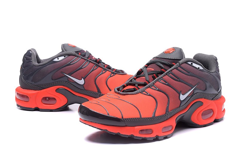 online retailer c133a 7bc53 High Quality Nike Air Max Plus TN Ultra Grey/Orange Running Shoes In Stock