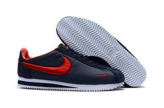 High Quality Nike Cortez Nylon Embroidery Dark Blue/Red Running Sports Shoes
