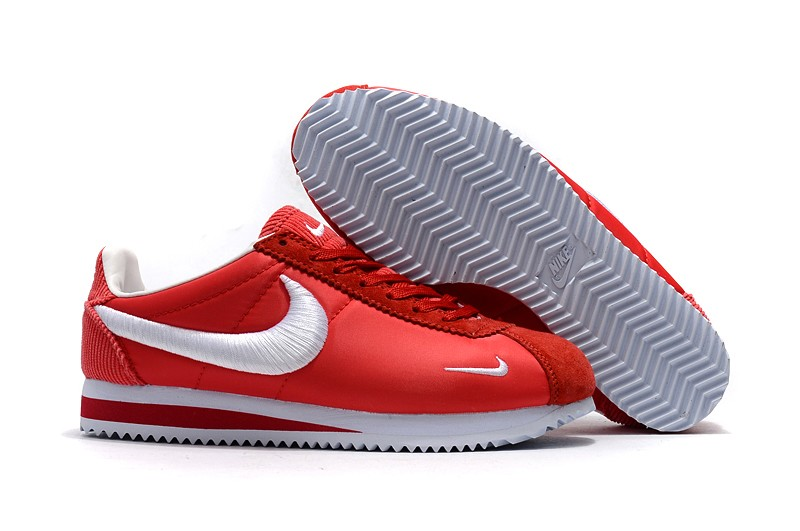pretty nice 61553 58191 Latest Style Nike Cortez Nylon Varsity Red/White Running Shoes For Sale