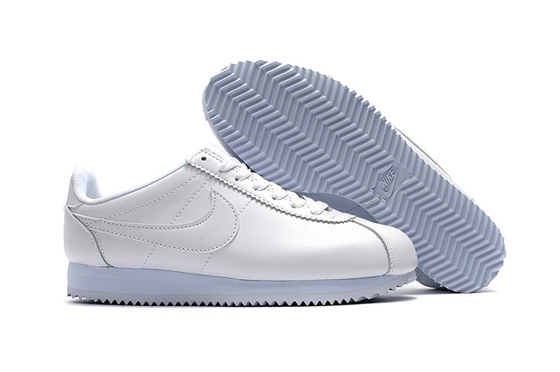 Low Priced Nike Classic Cortez Basic Leather White White Running ... a5daf93d6