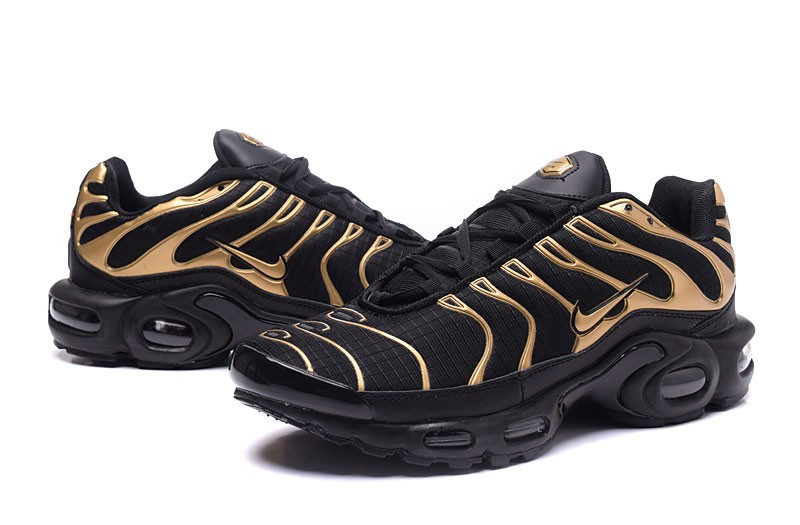 328e3608034 Most Popular Nike Air Max Plus TN Ultra Black Gold Running Shoes For ...