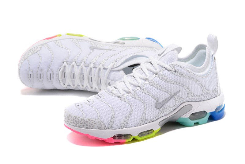 dfdc6df91dc571 Most Popular Nike Air Max Plus TN Ultra White Rainbow 881560-437 ...